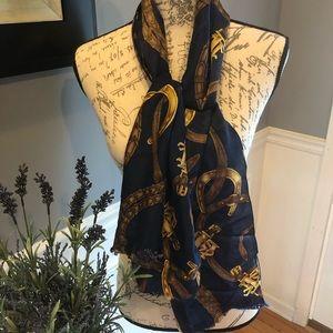 Ralph Lauren blue scarf